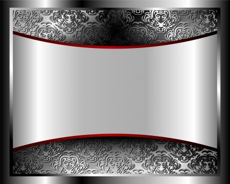 Fondo metálico con patrón y espacio para el texto