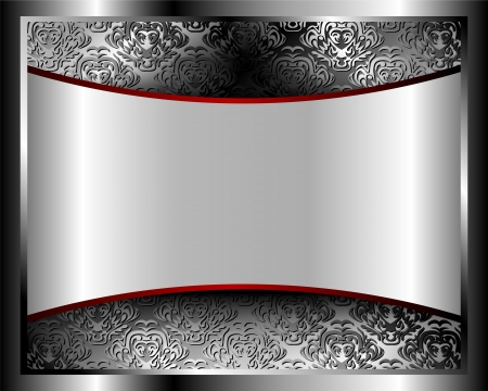 silver: Metallic background with pattern and space for text