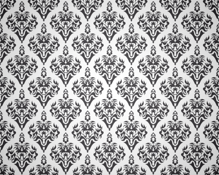 Seamless black pattern with decorative design Vector