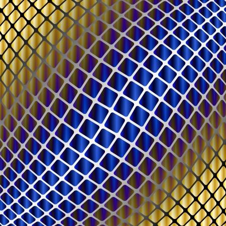orange swirl: Abstract background with geometric shapes Illustration