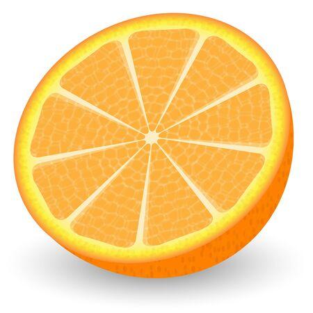 Slice of juicy ripe orange on a white background Stock Vector - 18104018