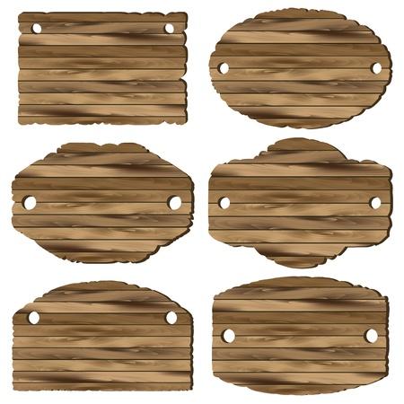 Eine Reihe von hölzernen Planken auf weißem Hintergrund Standard-Bild - 18210147