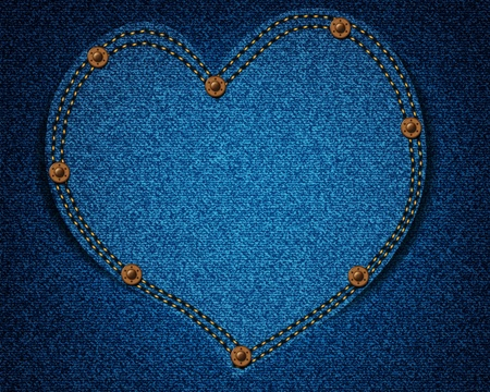 rivet: Jeans texture with heart for your design