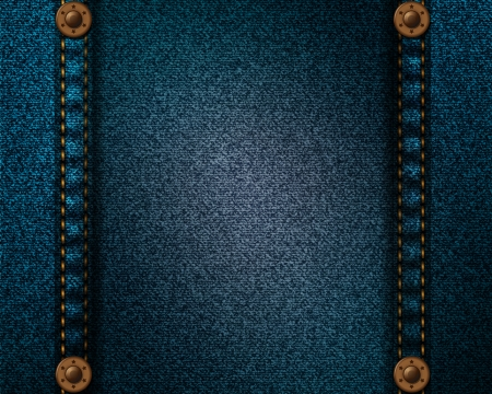jeans texture: Realistic denim fabric with pocket rivets and seams