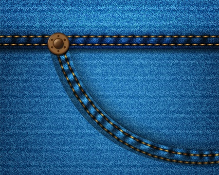 Realistic denim fabric with pocket rivets and seams