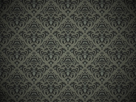 Seamless black pattern with decorative design