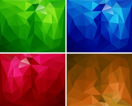 Set of colorful abstract backgrounds polygon for your design Stock Vector - 18380903