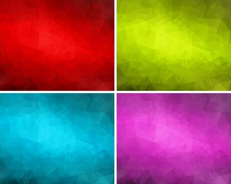 Set of colorful abstract backgrounds polygon for your design Stock Vector - 18380909