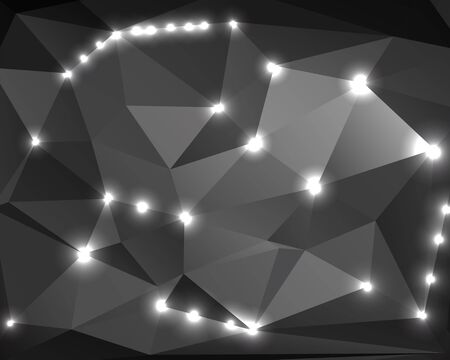 Polygon abstract monochrome background for your design Stock Vector - 18380911