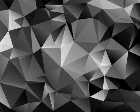 Polygon abstrakte monochrome Hintergrund für Ihr Design Standard-Bild - 18380917