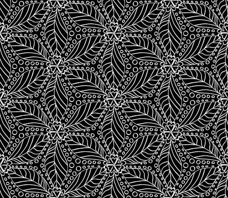 Seamless monochrome pattern for your design Stock Vector - 18620482