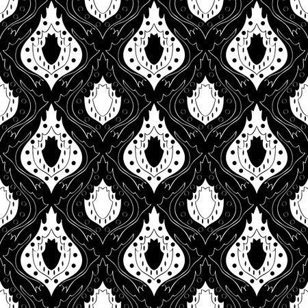 Seamless monochrome pattern for your design Stock Vector - 18620430