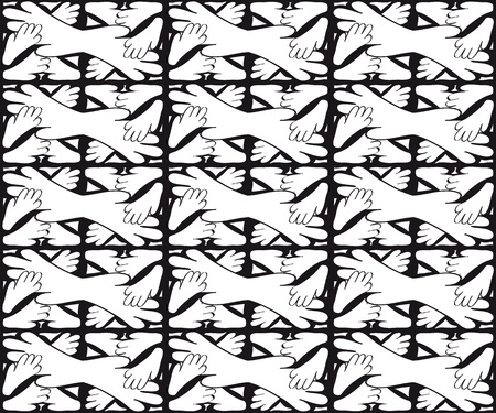 Seamless monochrome pattern for your design Stock Vector - 18620421
