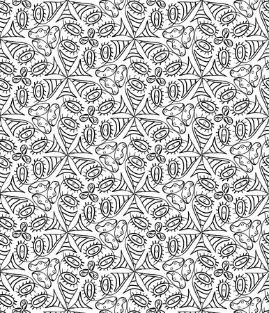 Seamless monochrome pattern for your design Stock Vector - 18620422