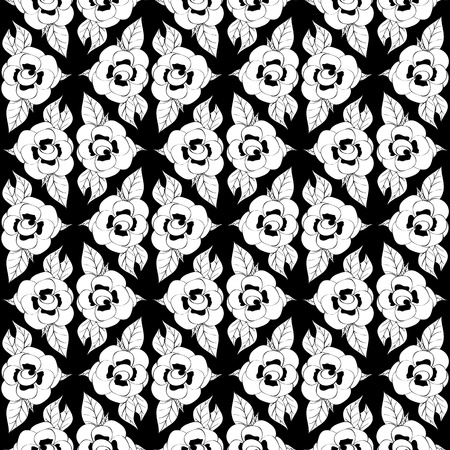 Seamless monochrome pattern for your design Stock Vector - 18620481