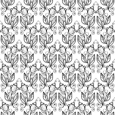 Seamless monochrome pattern for your design Stock Vector - 18620436