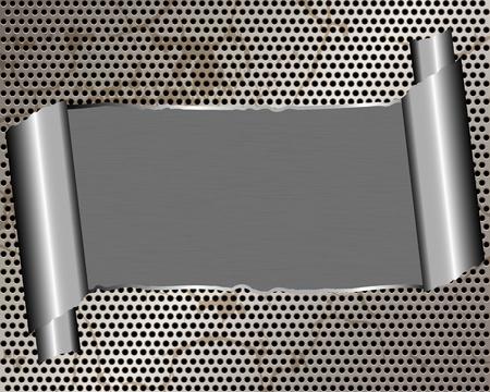 Hintergrund mit zerrissenen Metall und Platz für Text Standard-Bild - 19004436