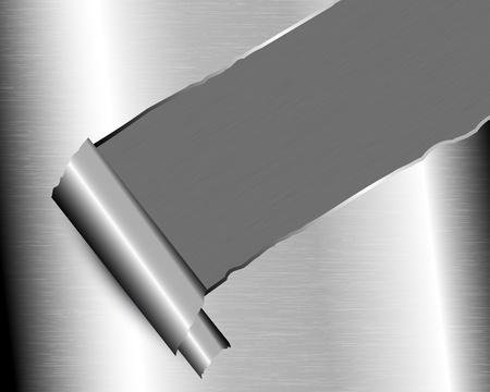 Hintergrund mit zerrissenen Metall und Platz für Text Standard-Bild - 19004423