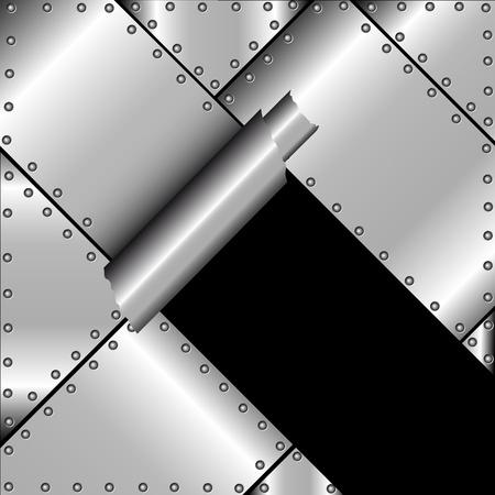 rivet: Фон с рваными приковано металла Иллюстрация