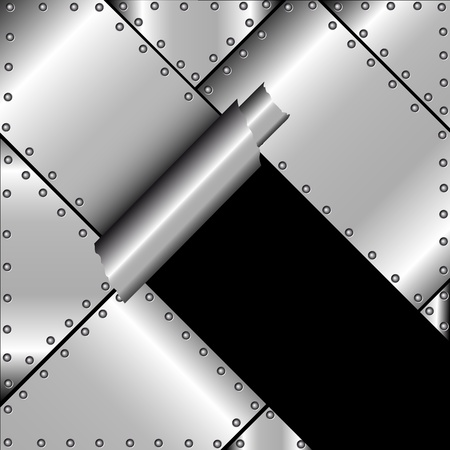 Achtergrond met gescheurde metaal geklonken Vector Illustratie