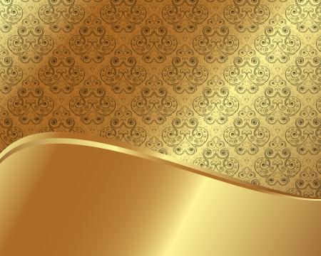 Goldrahmen mit Muster und Platz für Text Standard-Bild - 20661966