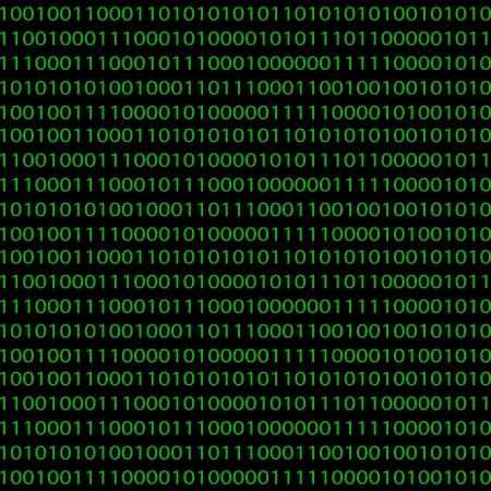 Nahtlose Muster mit einem binären Code für Ihr Design Standard-Bild - 20661978