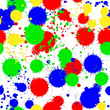 Seamless colored background with multi-colored blots for your design Vector