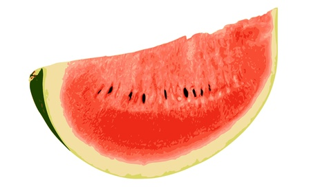 Watermelon close-up isolated on white background