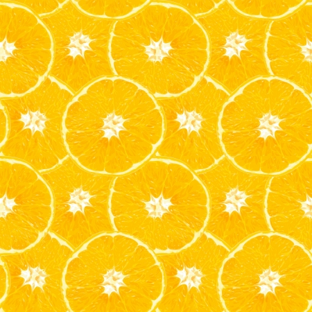 Seamless background from slices of orange for your design Vector