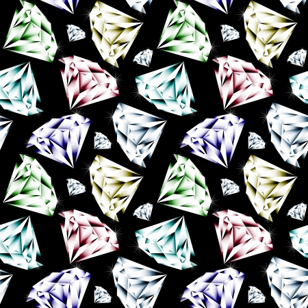 Seamless background with gems