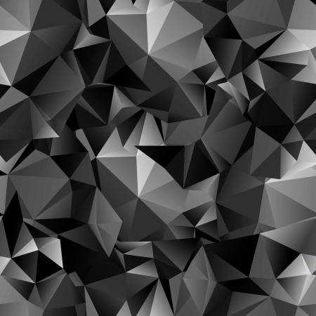 Seamless polygonalen dunklen Hintergrund Standard-Bild - 21845406