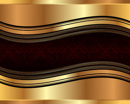 bronze background: Golden wavy background pattern for your design