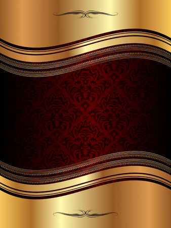gothic revival style: Golden wavy background pattern for your design