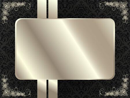 디자인을위한 꽃 요소와 실버 프레임