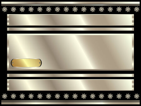 platinum style: Metallic silver background with decorative elements Illustration