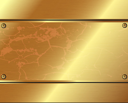 Abstract metallic background of gold plate Vector