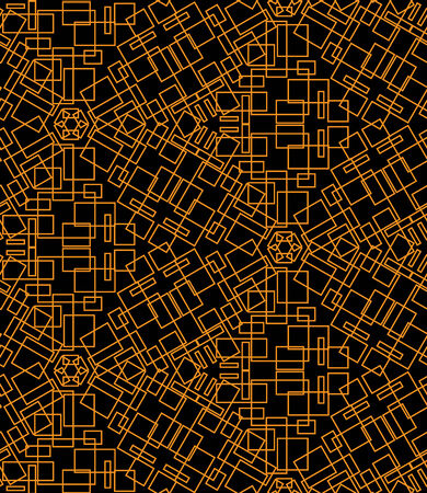 gele rozen: Abstract seamless pattern of yellow roses on a black background Stock Illustratie