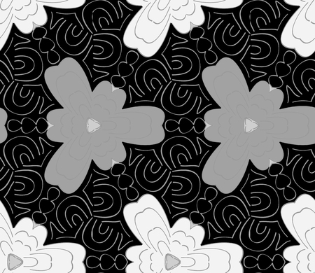 Seamless monochrome pattern Vector