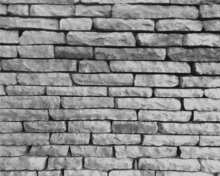 Steinwand in schwarz und weiß close-up durchgeführt Standard-Bild - 26069802