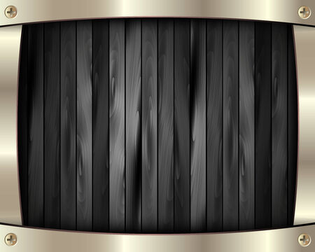 black wood texture: The metal frame on a dark wooden for your design