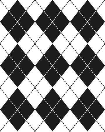 Seamless monochrome Scottish pattern for your design Illustration