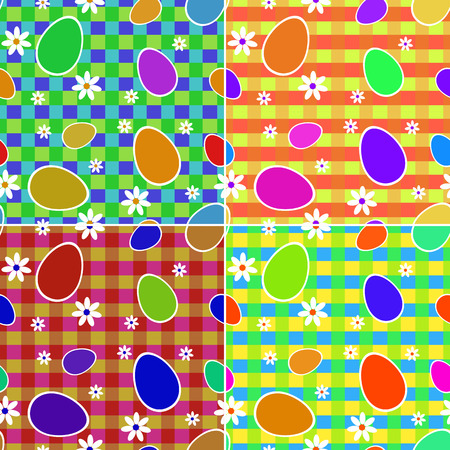 Easter set of seamless colorful backgrounds for your design