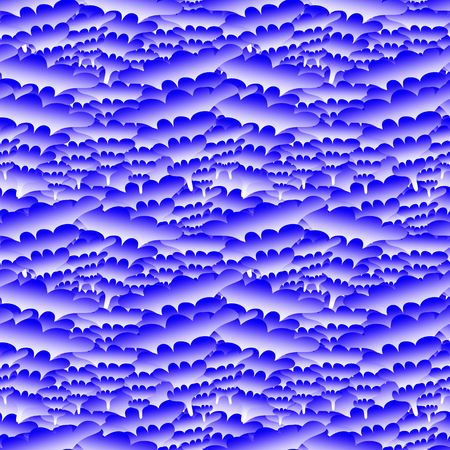 Seamless wavy abstract blue background for your design