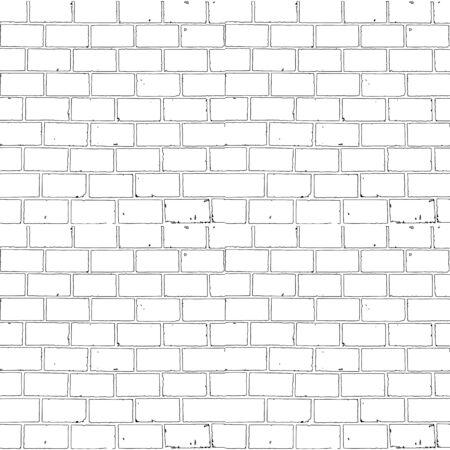 Seamless monochrome brick background for your design Illustration