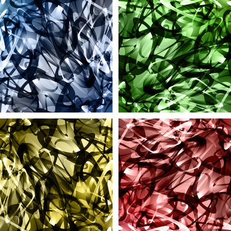 Set of abstract wavy backgrounds for your intricate design Illustration
