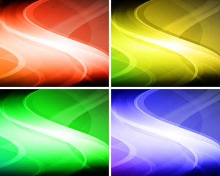 Set of abstract wavy backgrounds for your design Illustration