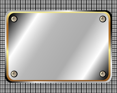memorial plaque: Metal frame with screws and space for your design