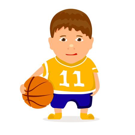 child sport: young basketballer