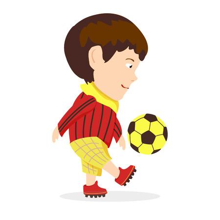 footwork: soccer boy