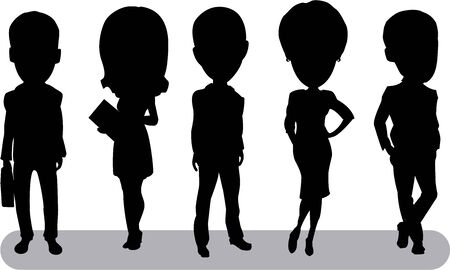 business team: business team silhouette
